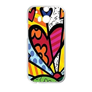 Canting_Good Romero Britto colorful art Custom Case Shell Skin for HTC One M8 (Laser Technology)