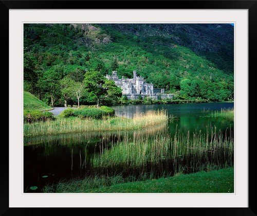 greatBIGcanvas Kylemore Abbey, Co Galway, Ireland by The Irish Image Collection Photographic Print with Black Frame, 36