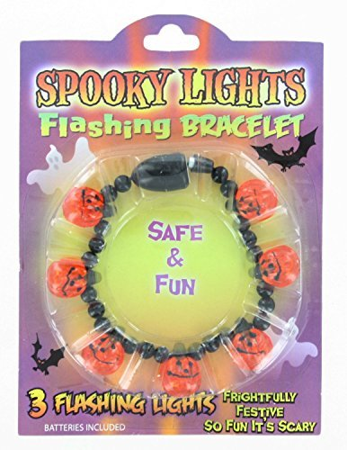 (Halloween Spooky Flashing Bracelets ~ 3pk ~ Fun Safe Spooky Halloween Bracelets ~ Favor Gift Birthday parties ~ Great for Older Kids Young Adults Teenagers by)
