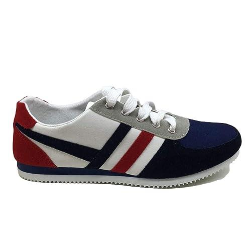 Hombre Zapatillas Primavera OtoñO Moda Lona Cordones Hombres Bamba De Piel Transpirable Zapatos Casual Hombres: Amazon.es: Zapatos y complementos