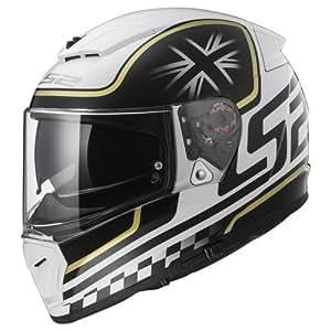 LS2Casco de Moto Breaker Classic, color blanco/negro, talla XS