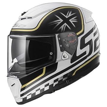 LS2 Casco de Moto Breaker Classic, color blanco/negro, talla XS