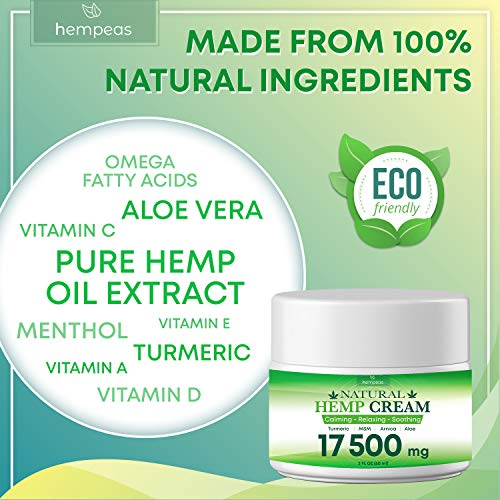 51xODNqFZJL - BLOOMCROP Organic Hemp Pain Relief Extract 17 500 Mg, Made in USA, Non-GMO, Natural Hemp Oil for Pain Relief
