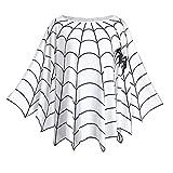 KENANCY Women Plus Size Halloween Costume Blouse Spider Web Print Poncho Tops