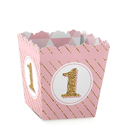 1st Birthday Girl - Fun to be One - Party Mini Favor Boxes - First Birthday Party Treat Candy Boxes - Set of 12 ()