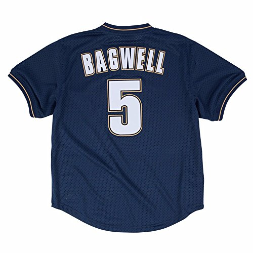 Jeff Bagwell Houston Astros MLB Mitchell &Ness Men's Navy Blue 1997 Authentic Throwback Batting Practice Jersey (Jeff Bagwell Astros)