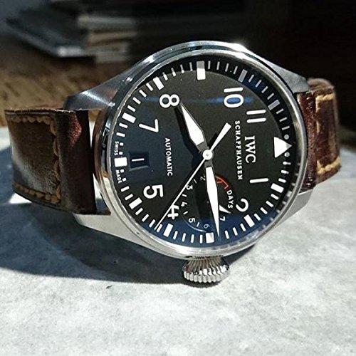 Custom 22mm Handmade Premium Calf Leather Watch Band Gunny Straps - Jamon Serie