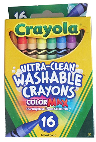 Regular Size Washable Crayons 16 Color