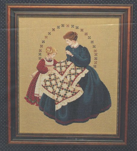 The Quiltmaker - One Counted Cross Stitch Pattern - Victorian Designs #103005 - Lavender and Lace ()