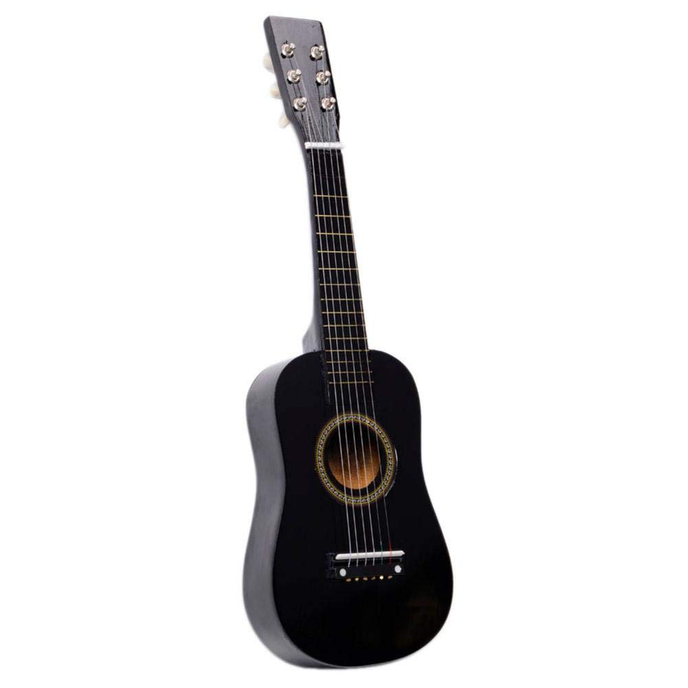 23 Inch Acoustic Guitar Pick Strings Black Toys Guitar Children Acoustic Guitar Pick Strings Acoustic Guitar for Kids-ship(Shipped From US) Biback