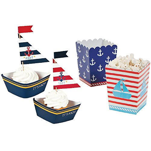 Nautical Baby Shower - It's a BOY! - 24 Guests - Cupcake ...
