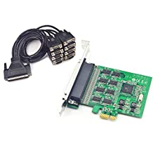8 Port Serial PCI-Express with cable controller card SYSTEM BASE SD6138 Chipset RS-232 RS232 serial port expansion cards