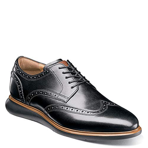 Florsheim Men's Fuel Wing Tip Oxford Black/Black Sole 13 M US