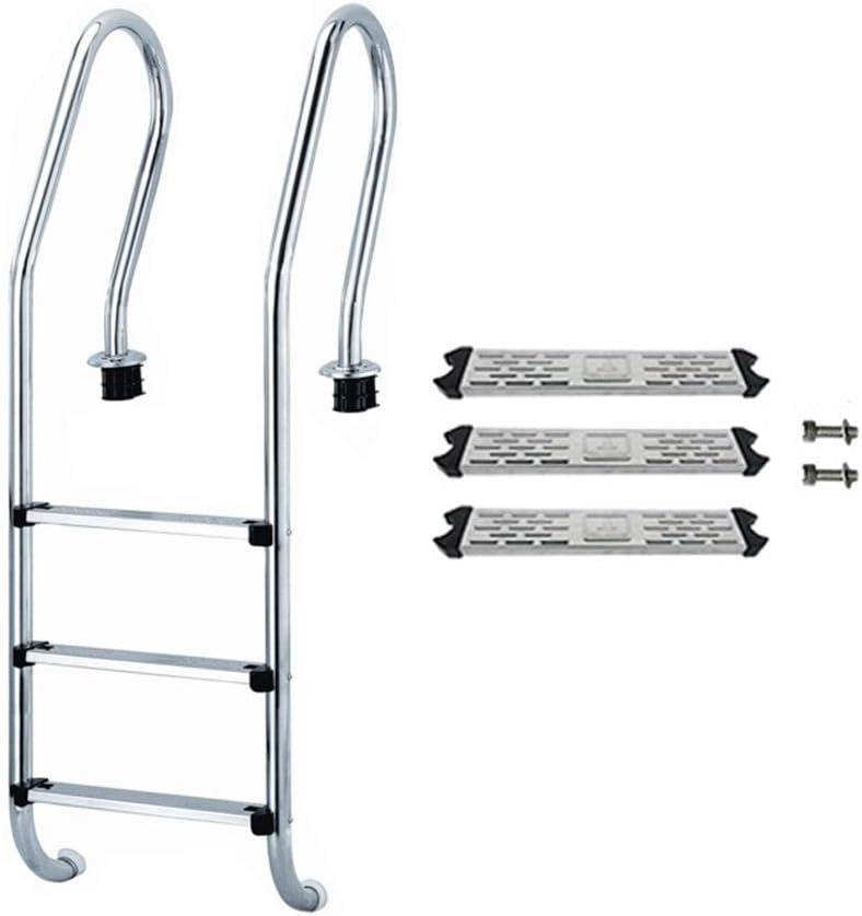 didatecar Pedales de Piscina, Pedal de Repuesto, Escalera Antideslizante 304/316 de Acero Inoxidable 562 g 1,2 mm para Piscina de Apoyo