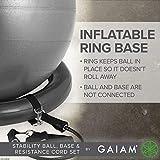 Gaiam Balance Ball, Base & Resistance Band
