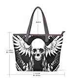 Punk Skull Women's Fashion Large Tote Shoulder Bag Ladies Handbag