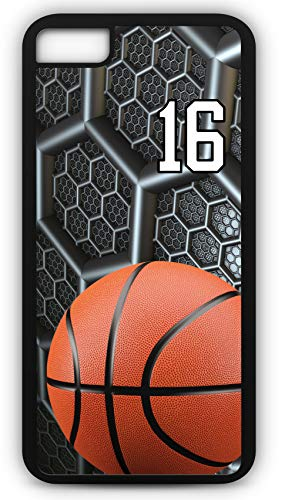 - iPhone 8 Plus 8+ Case Basketball BK038Z Choice of Any Personalized Name or Number Tough Phone Case by TYD Designs in Black Plastic and Black Rubber with Team Jersey Number 16