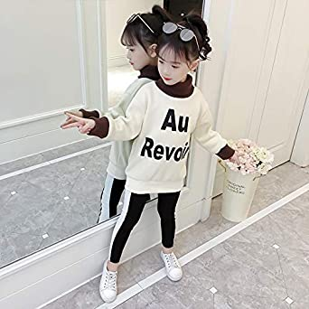 MV Casual Childrens Girls Fall and Winter Clothing Letter Sweater Kids Hoodies