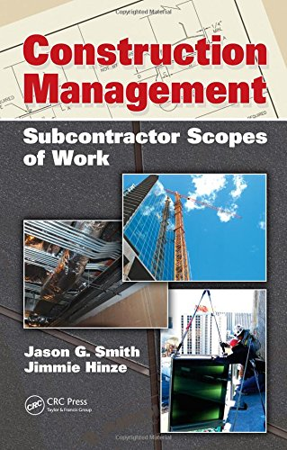 14 off construction management subcontractor scopes of work Find subcontracting work