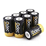 Odec D Cell Rechargeable Batteries, 8-Pack 10000mAh Deep Cycle NiMH Battery