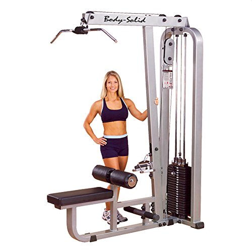 Body Solid Pro Club Line Lat Machine/Mid Row (210lb Stack) by Body Solid