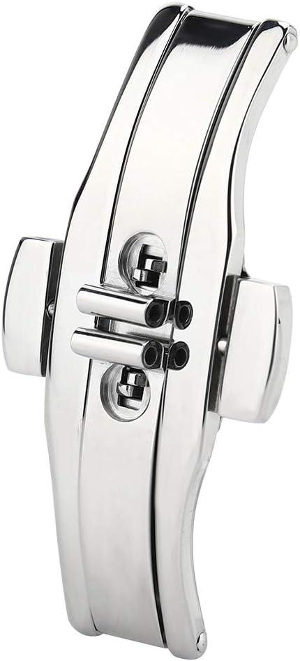 Rotekt Hebilla De Despliegue Fashional Metal En Forma De Mariposa - Correa De Cierre AutomáTico De Doble Clic para Correa De Reloj(01)