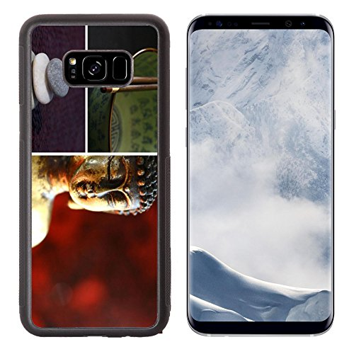 Luxlady Samsung Galaxy S8 Plus S8+ Aluminum Backplate Bumper Snap Case IMAGE ID 3395808 Composition of images buddha stones teapot chopsticks Zen lifestyle