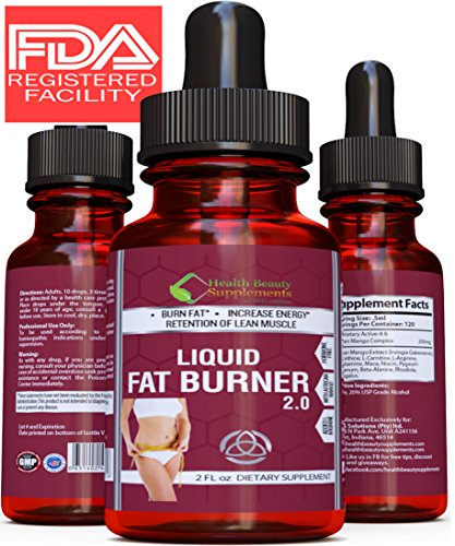** EXTREME LIQUID BURNER ** Liquid Fat Burner 2.0 Plus – Best Fast Acting Weight Loss Liquid For Men & Women – EXTREME Potency Prime Diet Weight Loss Supplement With BETA-ALANINE
