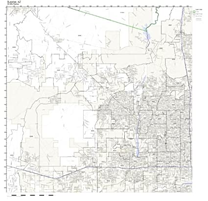 Amazoncom Surprise Az Zip Code Map Not Laminated Home Kitchen