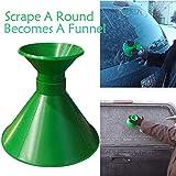TAOtTAO Scrape A Round Magic Cone-Shaped Windshield Ice Scraper Snow Shovel Tool (Green)