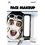 """Amscan Party Perfect Team Spirit Cream Face Makeup Accessory (1 Piece), White, 5.7 x 4"""""""