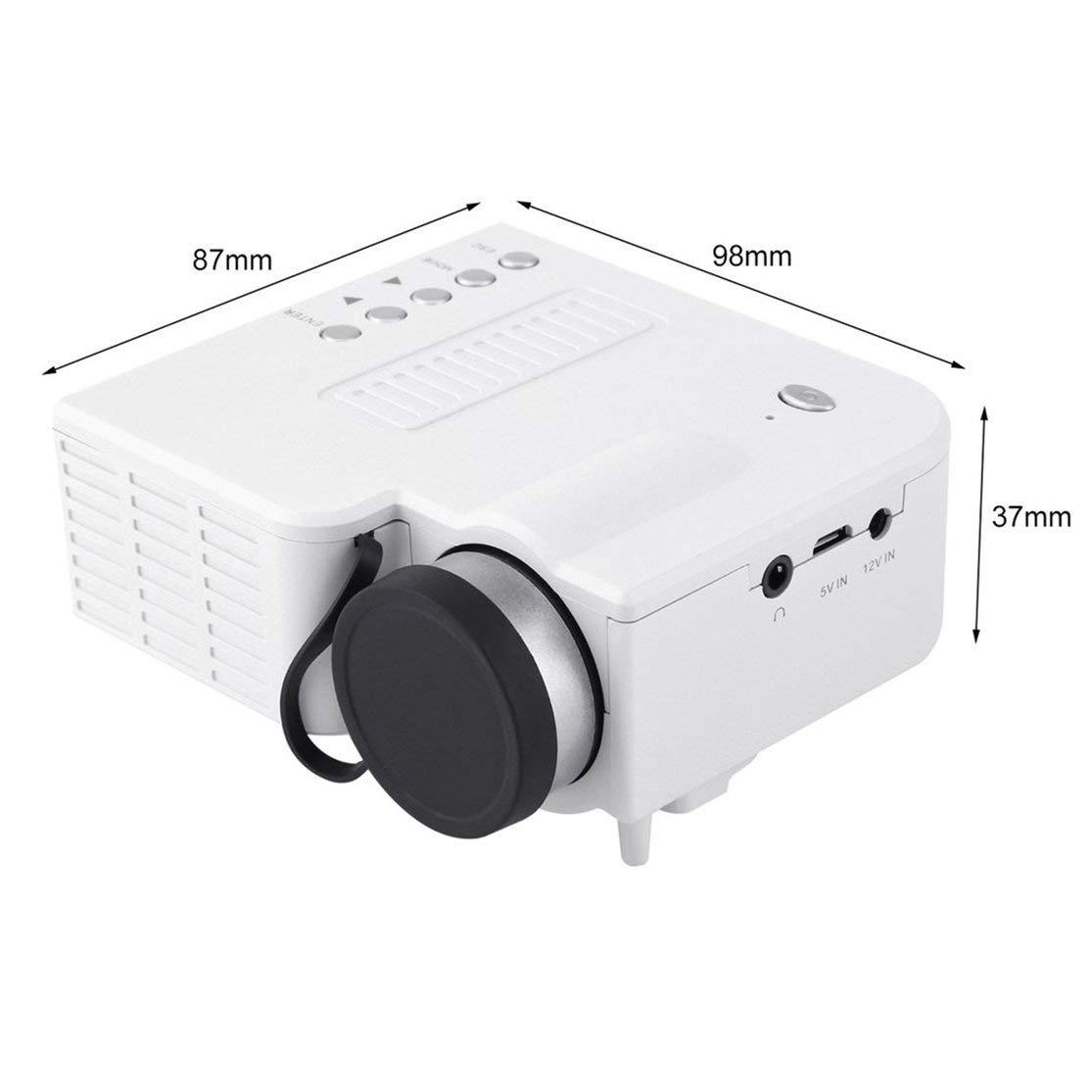 LouiseEvel215 Mini proiettore Portatile UC28A 1080P Multimedia Home Cinema Theater USB TF HDMI AV LED Beamer Proiettore per Uso Domestico