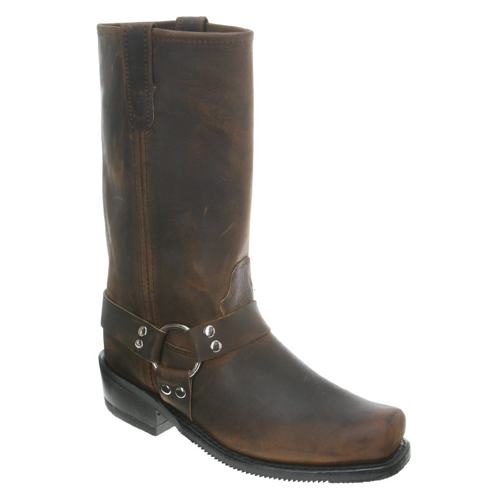 Double H 4004 Mens 12 Inch Harness Boot - Dark Tan Leather