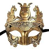 Xvevina Masquerade Mask Men Half Face Horse Masquerade Mask Vintage Design