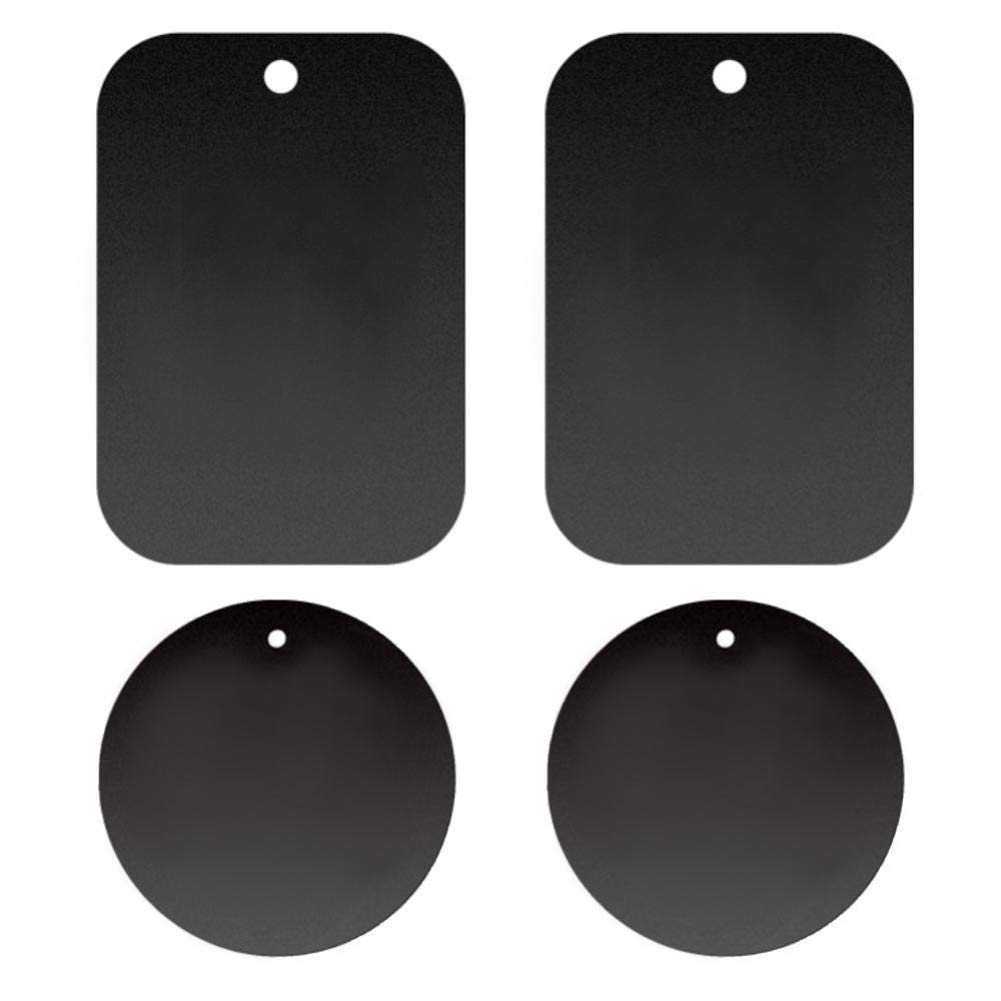 buyanputra 4Pcs Round Rectangle Mobile Phone Holder Magnetic Car Mount Phone Holder Mount Metal Plate Sticker