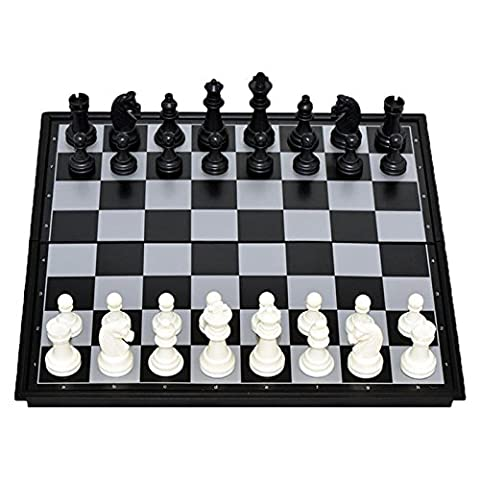 Shallen Portable Travel Magnetic Wooden Board Tournament Chess Set Wood Pieces New