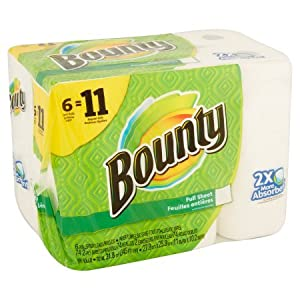 Super Roll Paper Towels, 74 sheets, 6 rolls 2X More Absorbent So The Roll can Last Up To 50% Longer
