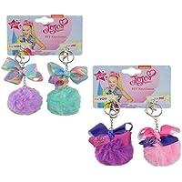 Jojo Siwa 2 Pack BFF Pom Ball Clip Keychain with Bow x 2 Sets