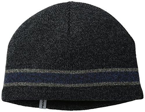Turtle Fur Lifestyle - Men's Boston Ragg, Fleece Lined Ragg Wool Beanie, Black Heather