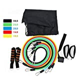 EBRICKON 11Pcs/Set Resistance Bands Workout Exercise Training Tube Pull Rope Rubber Expander Elastic Bands for Fitness