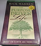 """""""The Purpose Driven Life--What On Earth Am I Here For?"""" by Rick Warren. The #1 New York Times Bestseller. Printed on Acid Free Paper. Hardcover book with Dust Cover in Very Good condition. Pages are clean and are free of writing, with exception of po..."""