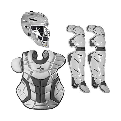 All Star System7 CKPRO1 Professional College Catchers Gear Set S7 AS Athletic Heather ADULT 15+