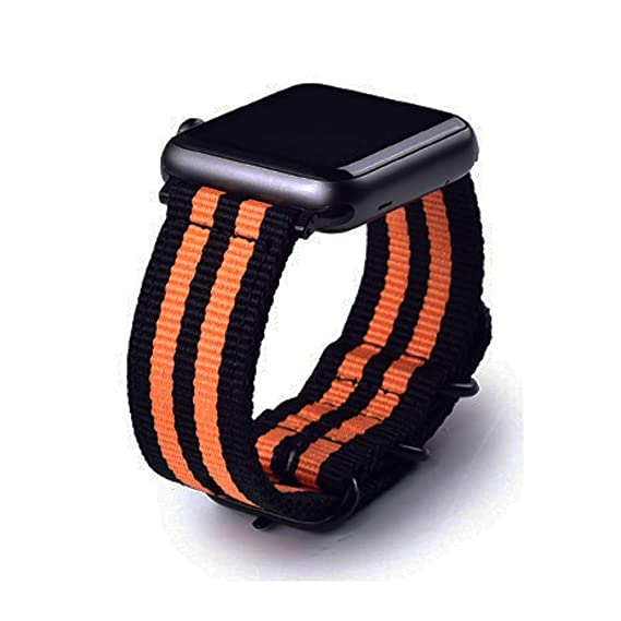 22mm Universal Ballistic Watch Band, CNYMANY Nylon Canvas Woven Loop Replacement Strap Wristband Buckle Fastener Adjustable Closure for Smart-Watch ...