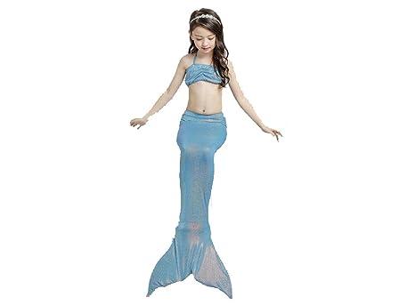 Costumi Da Bagno Per Bambini : Nuovo sirena pinne bikini costume da bagno con sirene coda da bagno
