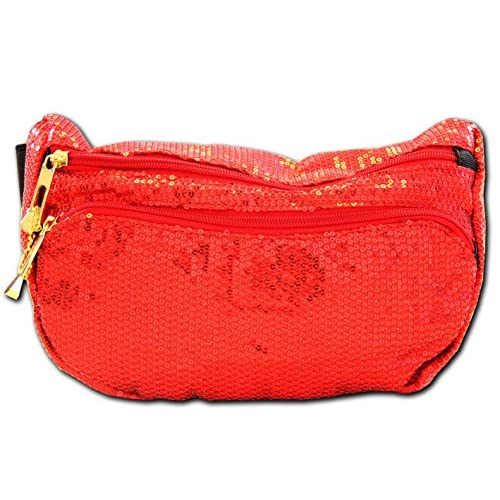 Sun Drop Citrus Soda Red Sequin Fanny Pack Waist Bag