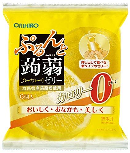 Orihiro Puru do and konnyaku jelly calorie zero grapefruit (18g ~ 6 pieces) ~ 6 bags