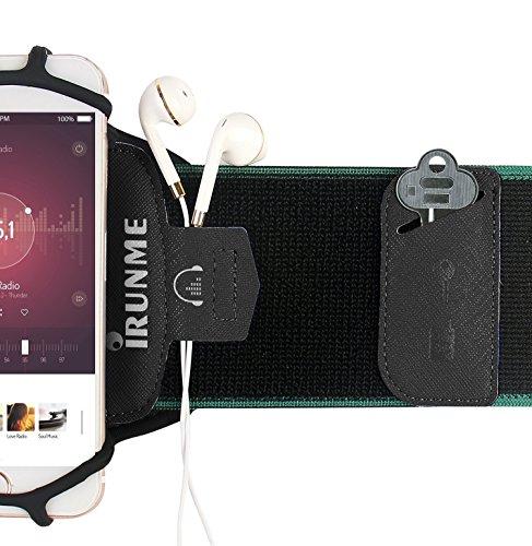 Armband iPhone X/iPhone 8 Plus/ 8/7 Plus/ 6 Plus/ 6, Galaxy S8/ S8 Pl us/ S7 Edge, Note 8 5, Google Pixel, 360° Rotatable Key Holder Phone Sports Armband Phone Holder by iRunme (Image #5)