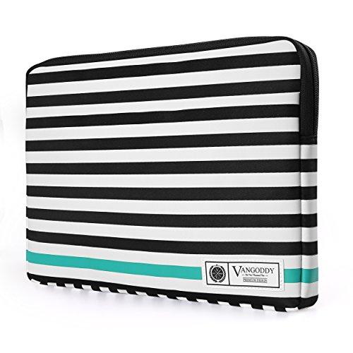 vangoddy-luxe-b-series-black-white-stripe-lightweight-padded-zipper-carrying-sleeve-for-lenovo-ideap