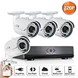 SW SWINWAY Complete 4CH AHD 720P CCTV DVR Recorder Home Security System + 4HD 1280720 P Surveillance Bullet Cameras (Superior Night Vision, IP66 Weatherproof Metal Housing) Review