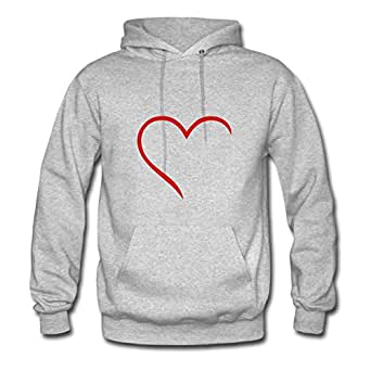 Heart Painting O-neck : X-large Womenhoody Grey- Made In Good Quality.